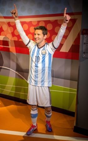 Wax figur of Lionel Messi