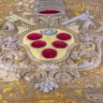 Closeup details of Medici family coat of arms - Fl...