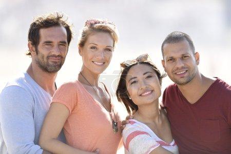 multi-racial couples posing