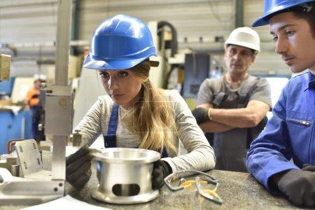 people in metallurgy training