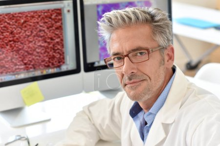Photo for Portrait of microbiology scientist in office - Royalty Free Image