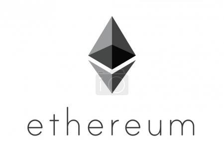 Logo of ethereum encryption technology