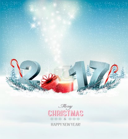 Happy new year 2017! New year design template Vector illustratio