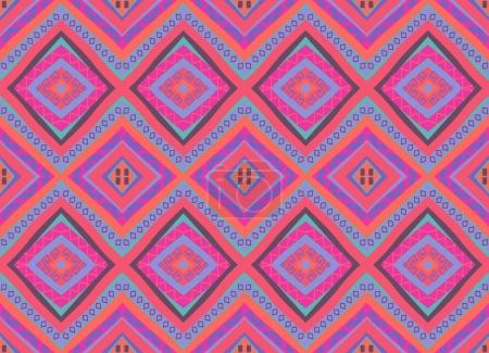Illustration for Seamless colorful ethnic pattern, vector illustration - Royalty Free Image