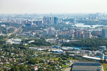 above view of Krasnogorsk district in Moscow