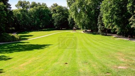 green lawnl in Chateau du