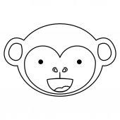 Isolated monkey cartoon design