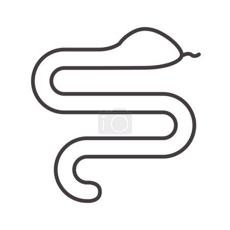 Illustration pour Silhouette avec illustration vectorielle animal sauvage serpent - image libre de droit
