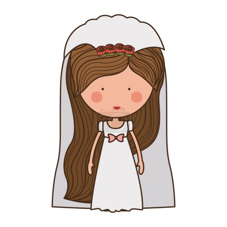 bride with dress and veil