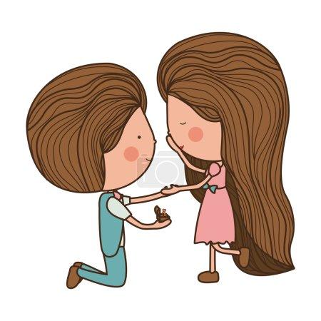 projet de mariage de l'homme à femme