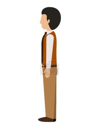 man standing left profile blazer with tie