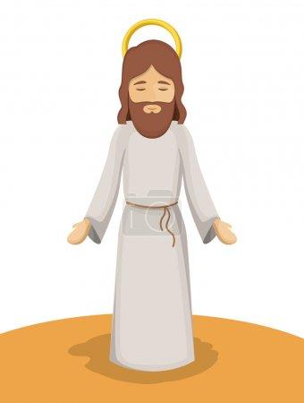 Jesus god cartoon design
