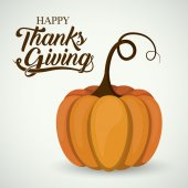 Pumpkin of Thanks given design