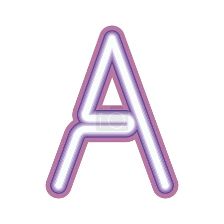 Glowing neon letter A