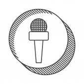 News microphone communication device vector illustration