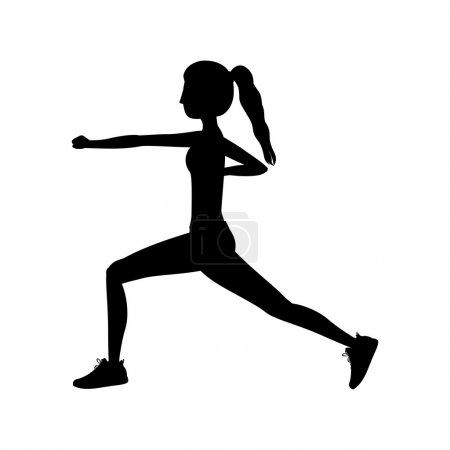 silhouette woman martial arts fist