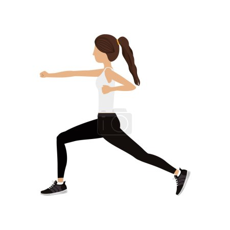 silhouette color woman martial arts fist
