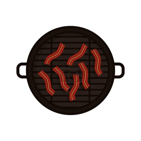 Food grilled with bacon strips