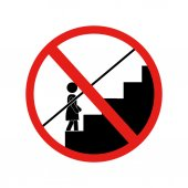 prohibited children alone down the stairs