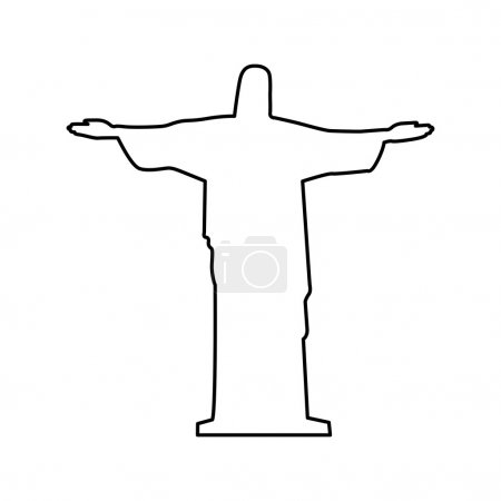 Christ the redeemer or corcovado sculpture icon image