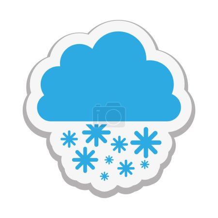 cloud with snow icon image