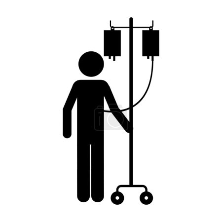 sick person in hospital icon image