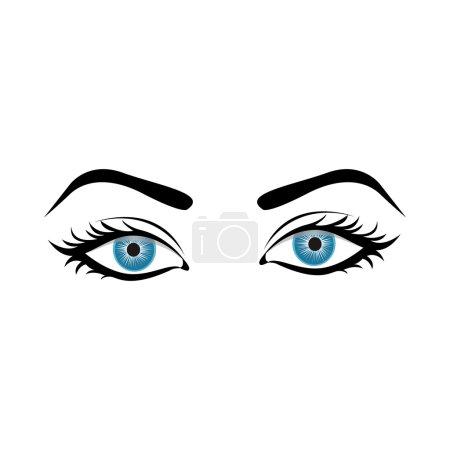 Illustration pour Femme yeux icône image vecteur illustration conception - image libre de droit