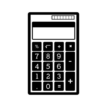 monochrome pocket calculator with solar panel