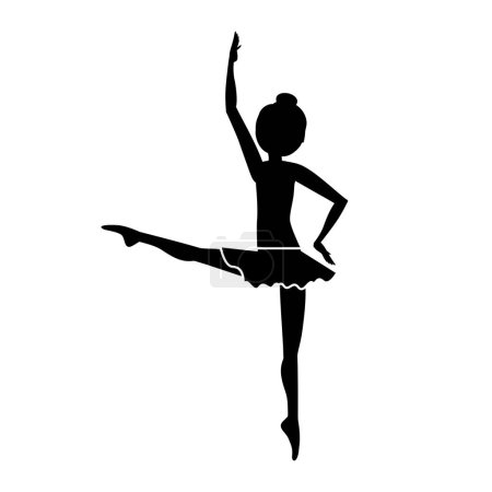 silhouette dancer fourth position developed