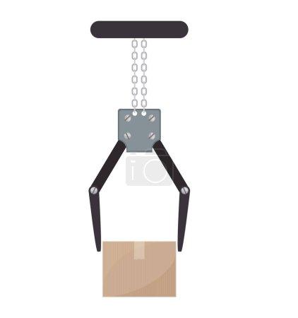 crane mechanics holding a package