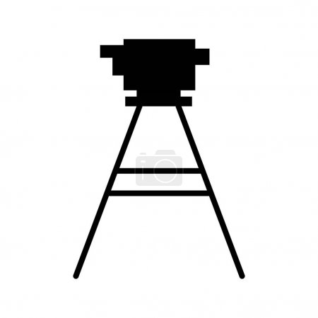 Black silhouette tripod for surveying