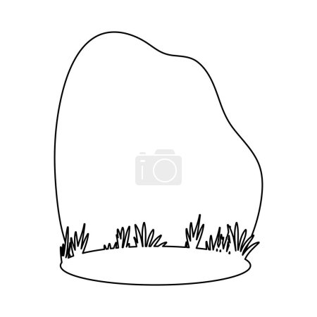 Illustration for Grass and sky landscape icon image vector illustration design - Royalty Free Image
