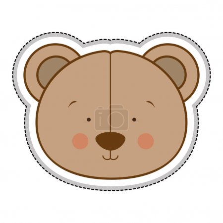 Teddy bear character icon image vector illustratio...