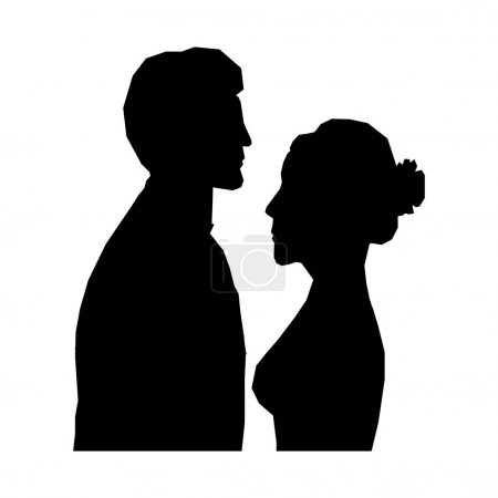 Illustration for Bride and groom icon image mosaic vector illustration design - Royalty Free Image