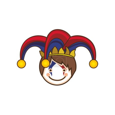 Illustration for Harlequin character icon image vector illustration design - Royalty Free Image