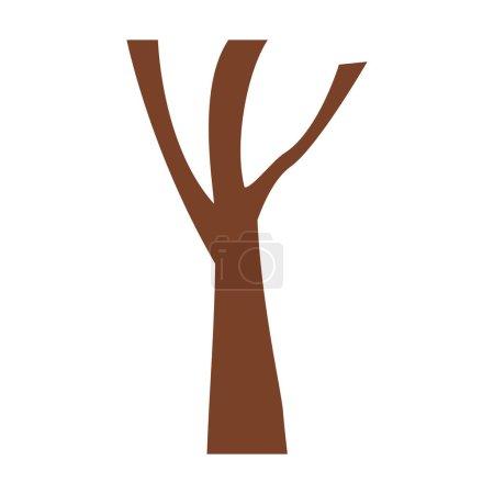 Illustration pour Tronc d'arbre avec branches sans feuilles illustration vectorielle rapprochée - image libre de droit