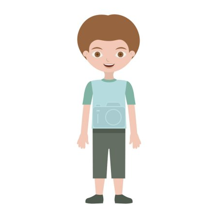 child with t-shirt and shorts