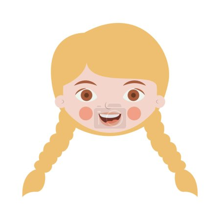front face blond girl with braided hair