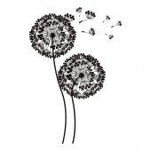 silhouette flying blow dandelion buds