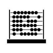 black silhouette abacus with base and spheres