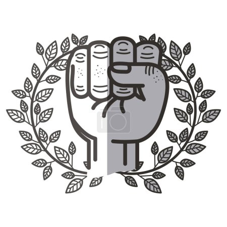 Isolated fist hand design
