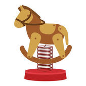 Horse cart for carousel icon