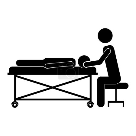 silhouette massage therapist with pacient