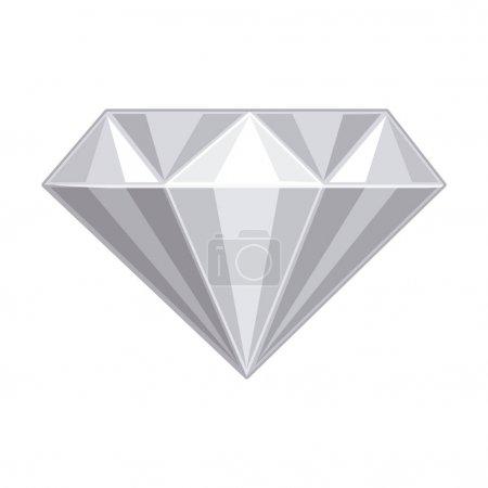 Illustration pour Icône diamant. Bijoux de pierres précieuses et thème brillant. Conception isolée. Illustration vectorielle - image libre de droit