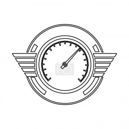 silhouette speedometer prize in monochrome