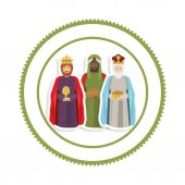 sticker border with the three wise men