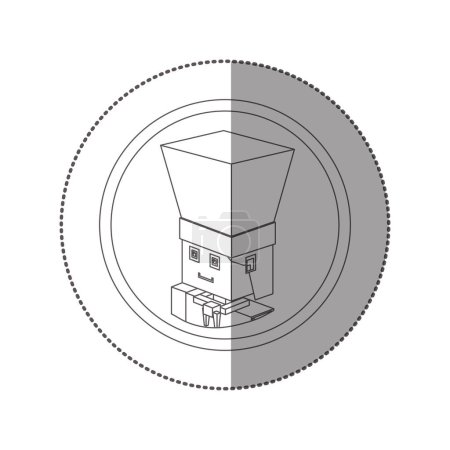 Silhouette sticker lego with portrait male chef shading
