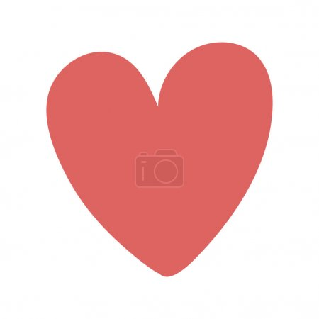 Illustration pour Coeur forme icône amour conception vectoriel illustration - image libre de droit