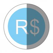 real brazil currency symbol icon