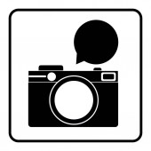 Fotoaparát bublina ikonu obrázek
